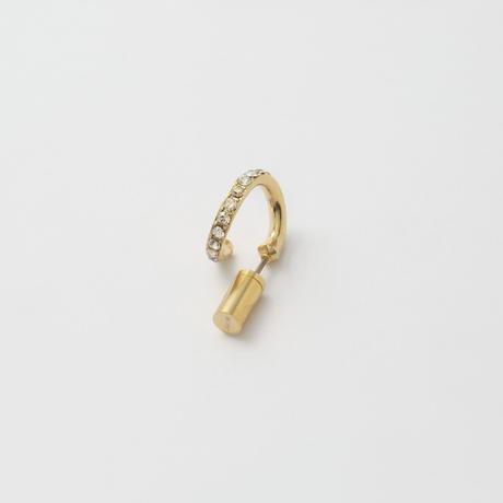 Diamond line pierce(8㎜ line/Vertical type/swarovski elements)