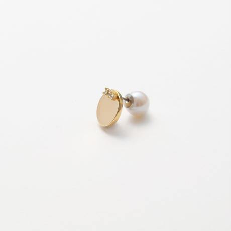 8mm gold circle pierce