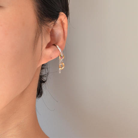 LIMITED COLLECTION【multi-color earring ( silver )】