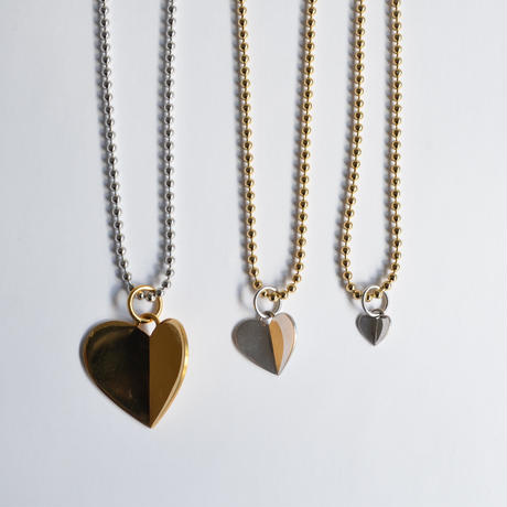 3.5mm ball chain necklace (gold / L size: 43cm)