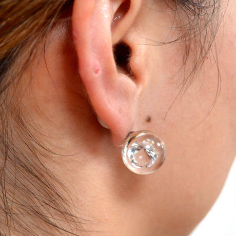 inclusion pierce (cubic zirconia / clear)