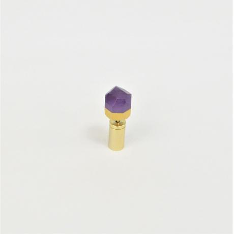 Amethyst  K18 post pierced earring