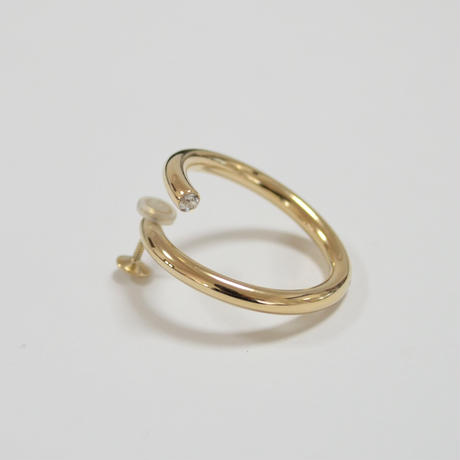 big circle earring (gold)