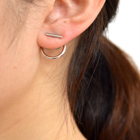 hoop catch pierce (10mm bar / 16mm hoop / silver)