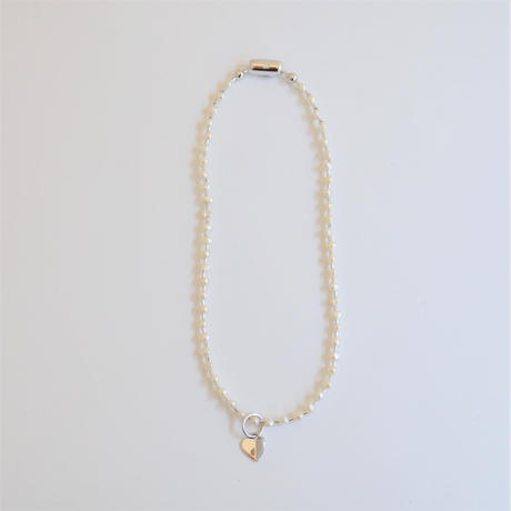 LIMITED COLLECTION 【Baroque pearl ball chain necklace (tiny)】