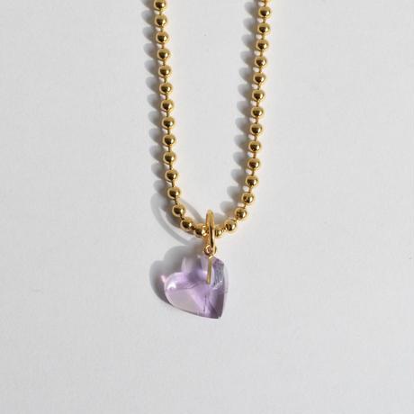 Heart charm (Amethyst)