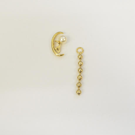 LIMITED COLLECTION【ball chain earring ( 5mmφ / 40mm / gold )】