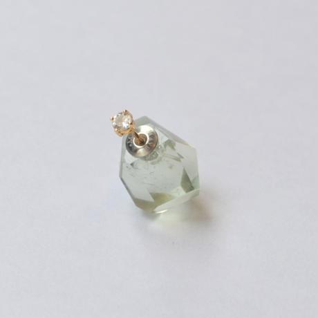 Kaleido pierced earring(Green amethyst / White topaz)