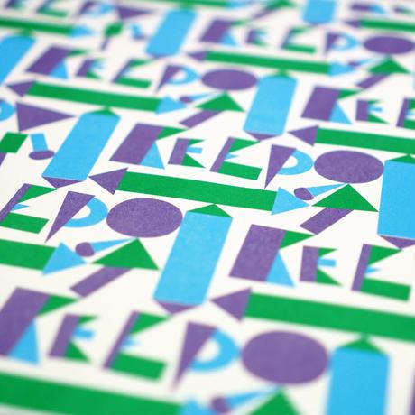 リソグラフポスター「Keep distancing」