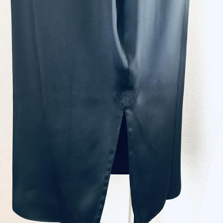 ROSAMOSARIO ローザモサリオ La Moglie di Zorro Black【シルクサテン ペンシルスカート/タイトスカート/ペチコート】