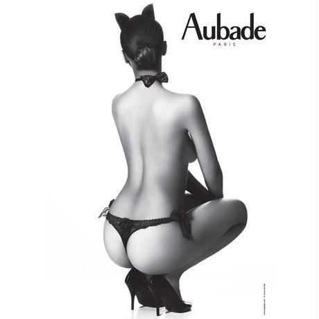 Aubade Boite a Desir Sexy Bunny オーバドゥ  【ウサ耳カチューシャ+タンガ+リボンチョーカーの3点セット】