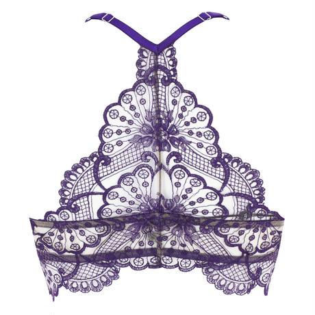 I.D. SARRIERI Euphoria Purple アイディサリエリ【パデッドプッシュアップブラ+タンガのセット シルク混】