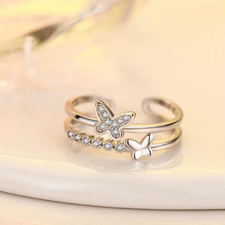 ダブルアーム蝶々のリング [mp027]