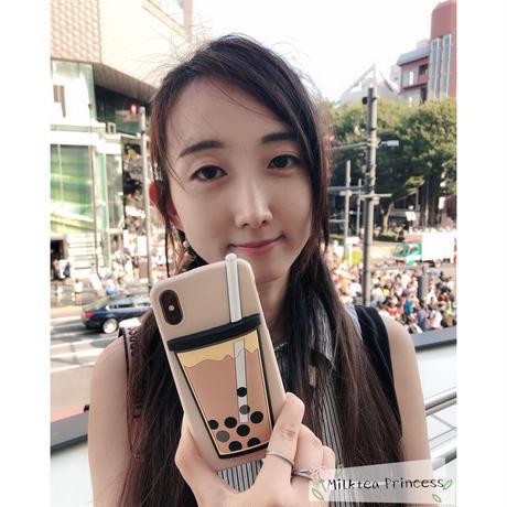 3DタピオカミルクティーiPhoneケース | iPhone7/8/X/XS/SE2 [mp510]