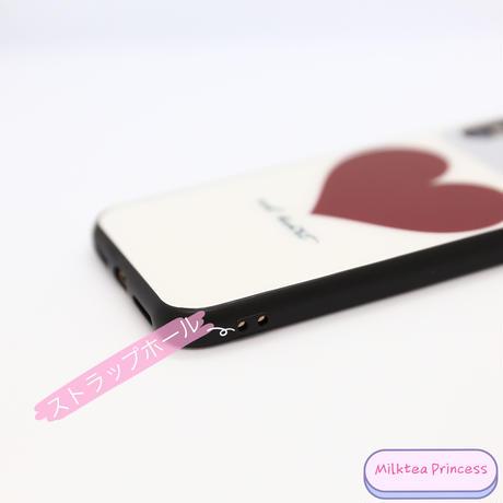 ミラー付きハートiPhoneケース | iPhone7/8/X/XS/SE2 [mp513]