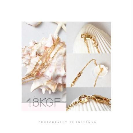 即納販売♡18KGF ゴールドフィルドチェーン45cm♡