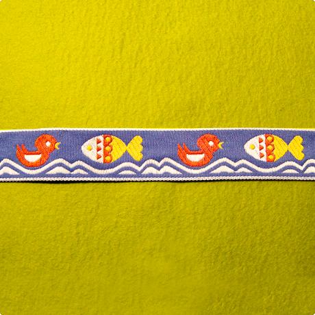インポートリボン(魚 ブルー)