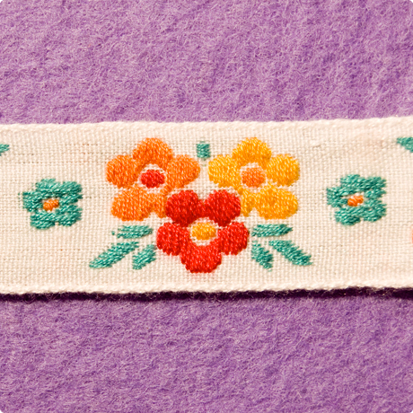 インポートリボン(花)