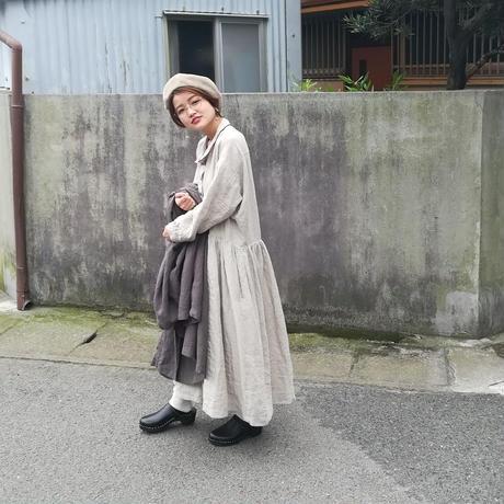 "AU GARCONS "" Lara ""  リネン/ワンピース/裏地付き/日本製"