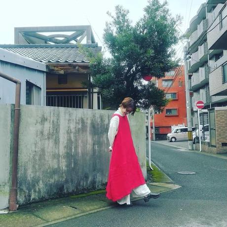 "glaz "" 東炊きリネン 切り替えワンピース ""バルーン ワンピース レディース/日本製"