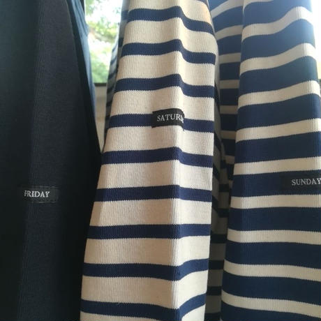 "DAILY WARDROBE INDUSTRY × Le minor "" バスクシャツ "" ユニセックス/ボーダー/フランス製"