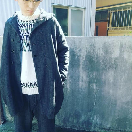 "AU GARCONS "" SAMY "" メンズ/コート/へリンボン/日本製"