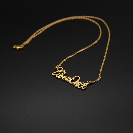 LIFE IS ONCE Logo plate Necklace