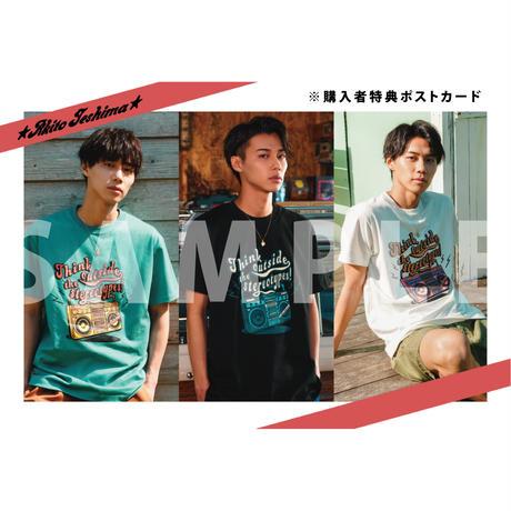 TESHIMA AKITO×CALEE Radio T-shirt BLACK