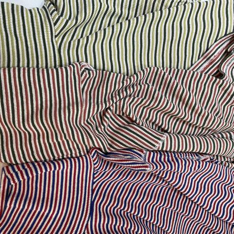 ワッフルマルチボーダータートルネックTシャツ