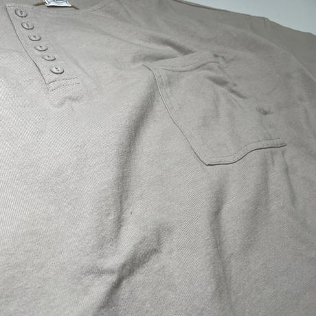 アシンメトリーヘンリービッグTシャツ
