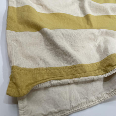 七分袖ボートネックビッグボーダーTシャツ