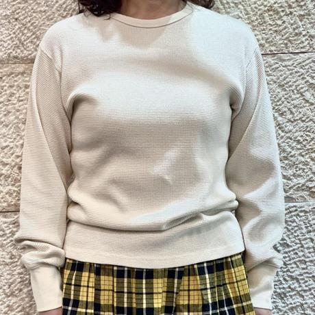 ワッフルクルーネックシャツ