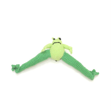 Ware Of The Dog  HAND CROCHET FROG