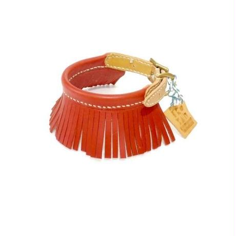 ikoyan for doggy/Garland Collar FRINGE  (Red) サイズS