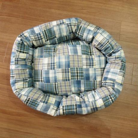 Wagwear Madras Bed blue SIZE S