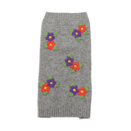 Ware Of The Dog  Embroidered Flower sweater