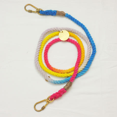 Found My Animal ADJUSTABLE ROPE LEASH(LIGHT PRASMATIC)