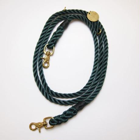 Found My Animal ADJUSTABLE DOG LEASH (HUNTER GREEN)
