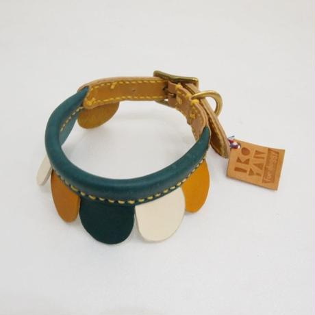 ikoyan for doggy/Garland Collar FLOWER (NVY×YLW×WHT) サイズ S