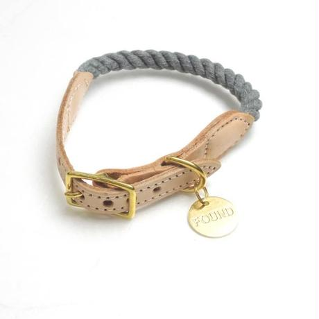 Found My Animal Rope Cat&Dog Collar(Grey/up-cycled)