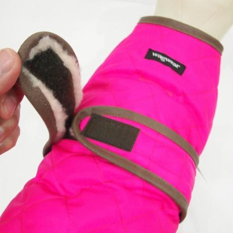 wagwear Quilted Vest with Berber Fleece(Neon pink)