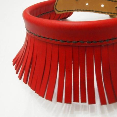 ikoyan for doggy/Garland Collar FLINGE  (Red) サイズ M