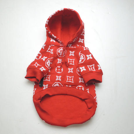 The Monogram Hype Hoodie(RED)