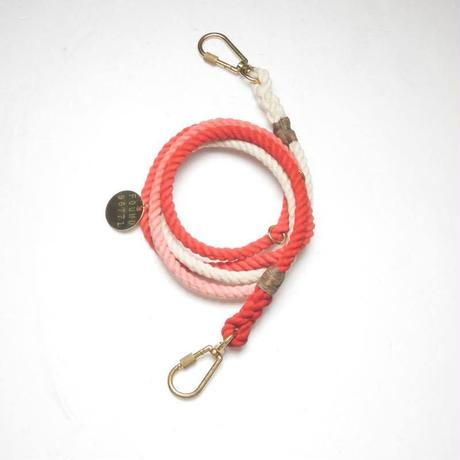 Found My Animal ADJUSTABLE ROPE LEASH(CORAL OMBRE)