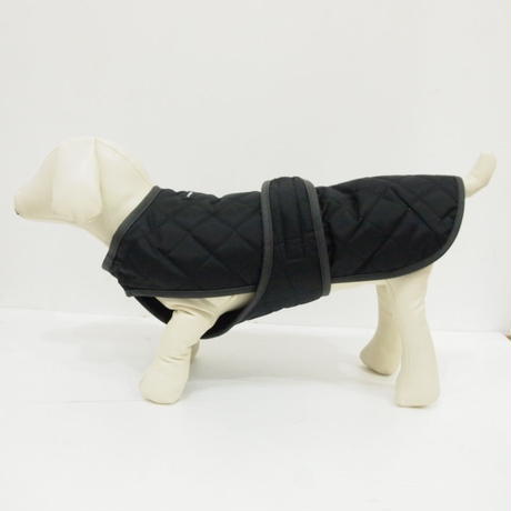 wagwear Quilted Vest with Berber Fleece(Black)