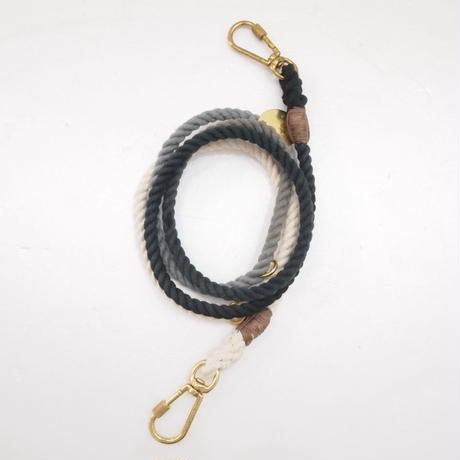 Found My Animal ADJUSTABLE ROPE LEASH(BLACK OMBRE)