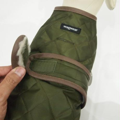 wagwear Quilted Vest with Berber Fleece olive