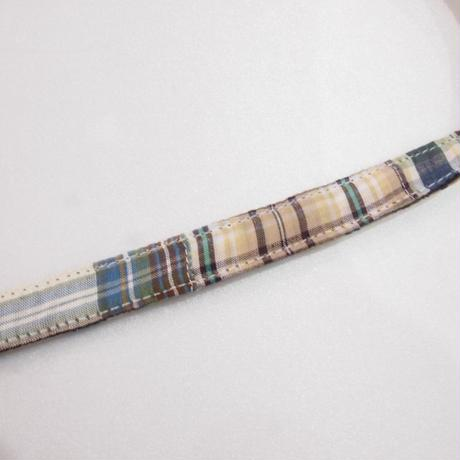 Wagwear Madras leash blue