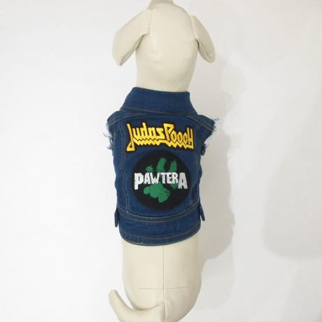 PETHAUS BATTLE JACKET WITH METAL PATCHES SIZE 10-12