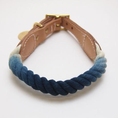 Found My Animal  Rope Cat&Dog Collar(INDIGO OMBRE)